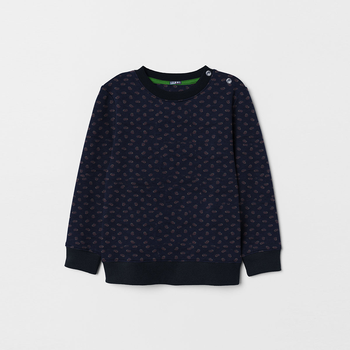 Tommy Hilfiger Crew Neck Single Jersey Sweatshirt For Kids-All Over Printed-NA7547