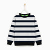 Tommy Hilfiger Crew Neck Single Jersey Sweatshirt For Kids-Dark Navy Stripes-NA7890