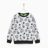 Tommy Hilfiger Crew Neck Single Jersey Sweatshirt For Kids-White & All Over Printed-NA7737