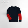 Tommy Hilfiger Crew Neck Fleece Sweatshirt For Kids-Dark Navy & Red-NA10679