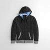 Tommy Hilfiger Quilted Zipper Hoodie For Kids-Charcoal Melange-NA10174