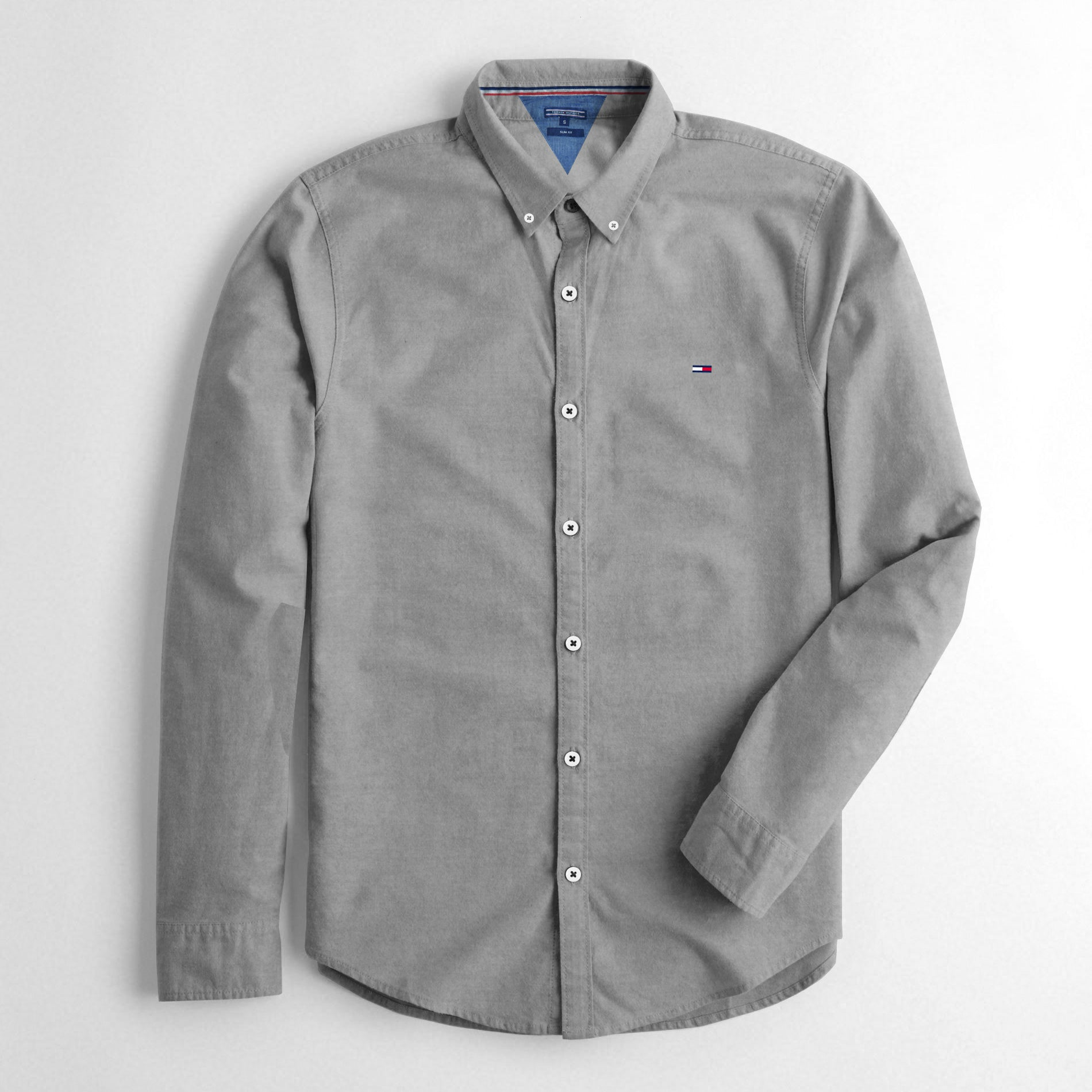 09bfb735772 Tommy Hilfiger Slim Fit Long Sleeve Button Down Casual Shirts For Men- -  BrandsEgo