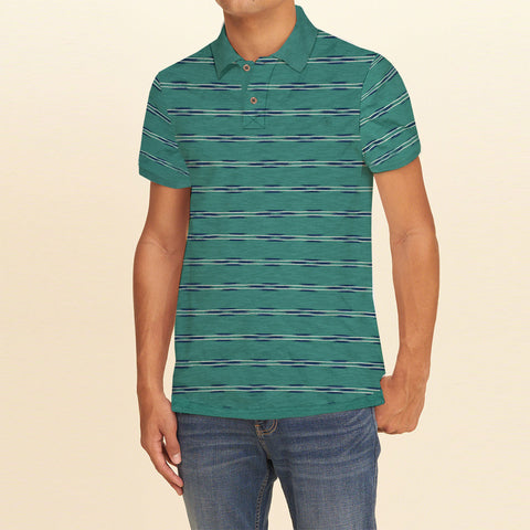 Dickies Polo Shirt For Men-Green Striper-BE862