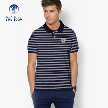 Fat Face Polo For Men Cut Label-Navy with White Stripe-BE2548