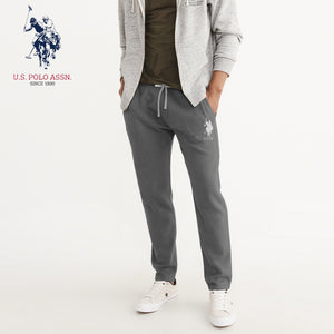U.S Polo Assn Single Jersey Trouser For Men-Dark Gray With Silver Embroidery-NA905