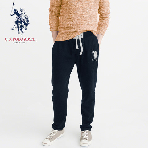 U.S Polo Assn Single Jersey Trouser For Men-Navy With Silver Embroidery-NA897