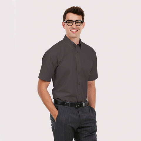 Uneek Half Sleeve Casual Shirt For Men-Dark Gray-BE815