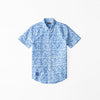 brandsego - US Polo Assn Premium Casual Shirt For Boys-Blue & Allover Printed-NA8714