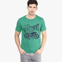 Next  Crew Neck T Shirt For Men-Sea Green-BE2352