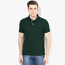 Boston Crew Polo Shirt For Men-Dark Green-BE2733
