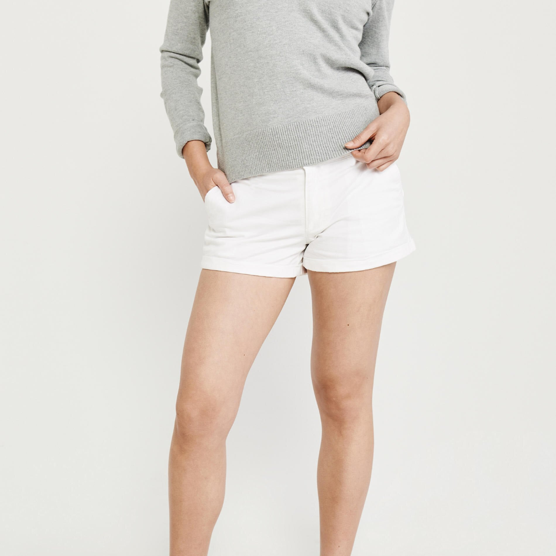 Unit Single Jersey Short For Ladies-White-NA8796