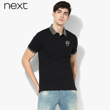 NEXT Polo For Men Cut Label-Black-BE2525