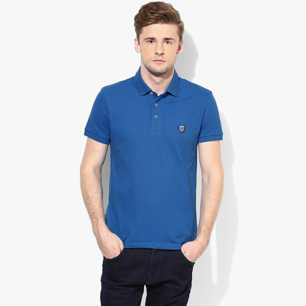 "Men's Cut Label ""Chen One"" Dark Blue Polo p45"