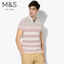 M&S Polo Shirt For Men Cut Label-Lime-BE2555