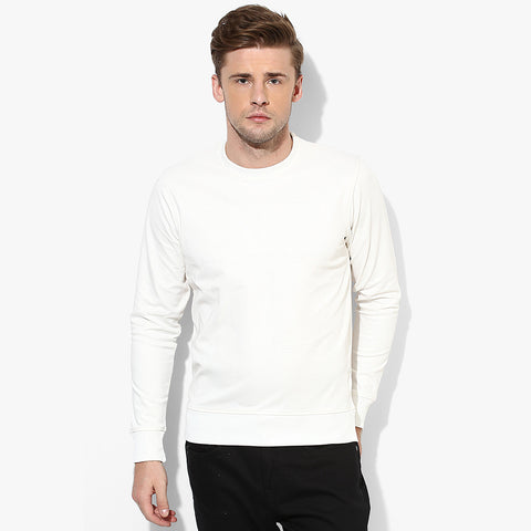 "Men's ""RTY"" Sweat Shirt-White-RTS03"