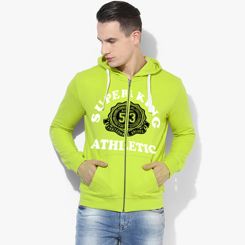 "Men's ""Super King"" Printed Zipper Hoodie-Parrot-SKHP09"