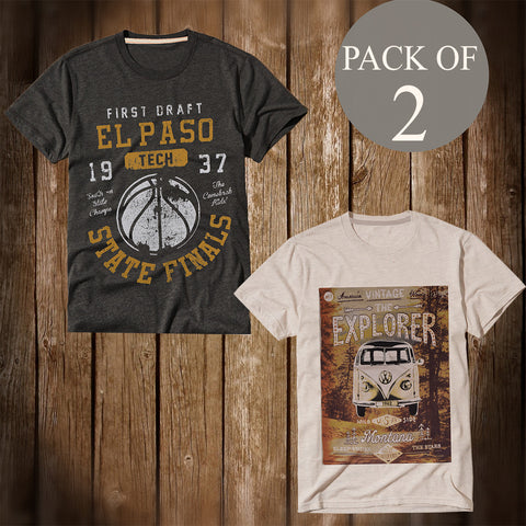 Pack Of 2 T Shirt For Men-AT56