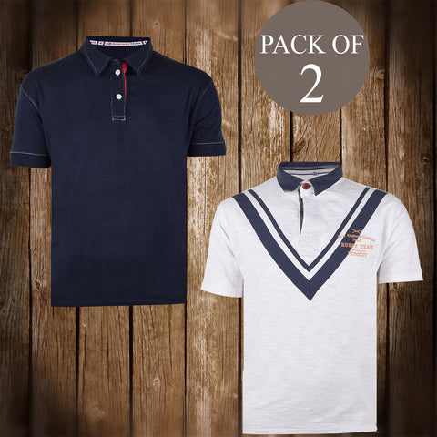 Pack Of 2 T Shirt For Men-AT74