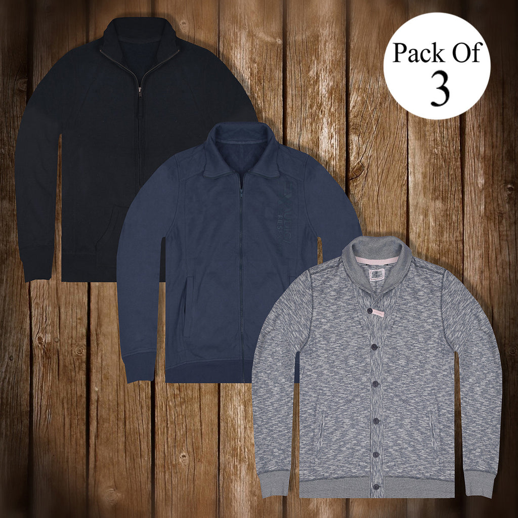 Pack Of 3 Mock Neck & Cardigan For Mens-AT05