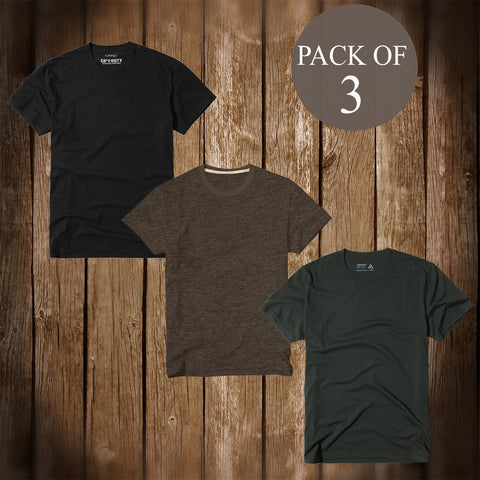 Pack Of 3 T Shirt For Men-AT69