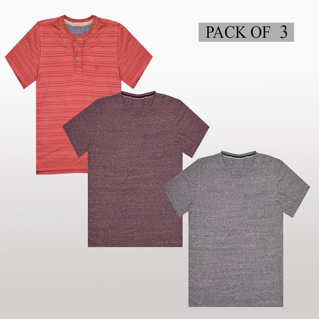 Pack Of 3 T Shirt For Men-AT39