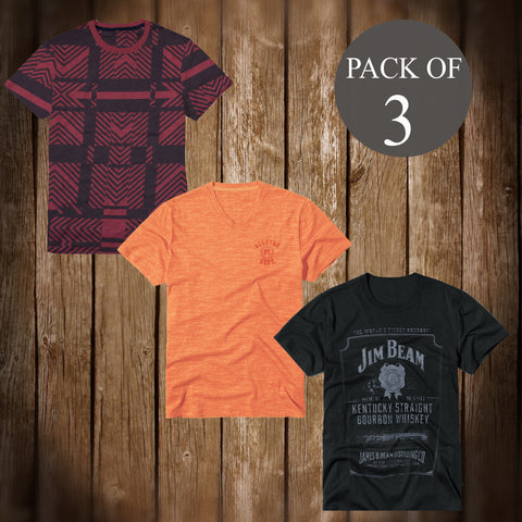Pack Of 3 T Shirt For Men-AT63