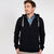 M&S Fleece Full Zipper Hoodie For Men-Dark Navy-BE3495