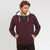 M&S Full Zipper Fleece Hoodie For Men-Burgandi-BE3468