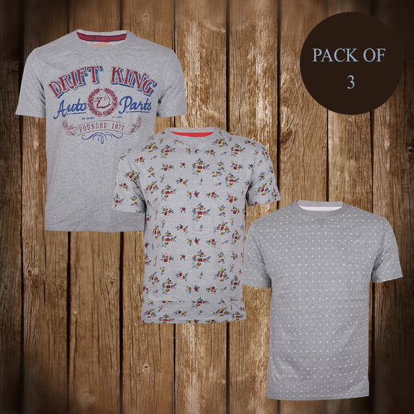 Pack Of 3 T Shirts For Men-AT18