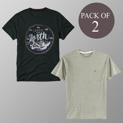Pack Of 2 T Shirt For Men-AT60