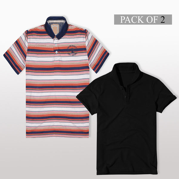 Pack Of 2 Polo Shirts For Men -AT32