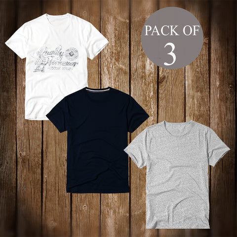 Pack Of 3 T Shirt For Men-AT64
