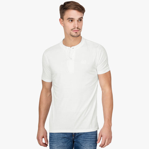 B Quality Next Henley T Shirt For Men Cut Label -Off White-BE2165