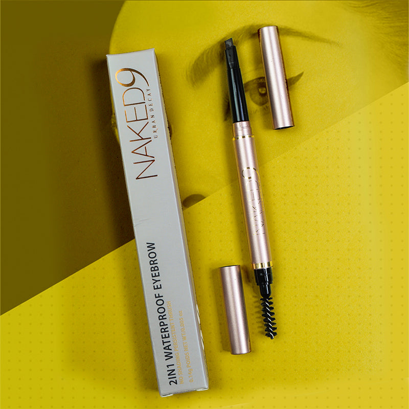 Urban Decay Naked9 2 In 1 Water Proof Eyebrow Brown Pencil-NA10462