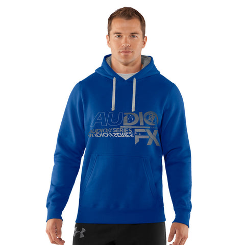 "Men's Cut Label ""Next"" Printed Pullover Hoodie-Royal Blue-SKH27"