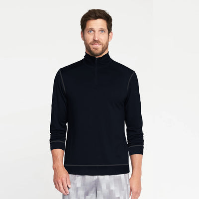 Veltuff 1/4 Fleece Zipper Mock Neck For Men-NA9808
