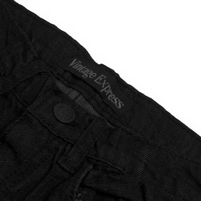 brandsego - Vintage Express Power Stretch Biker Denim For Kids-(S05)-Black Melange-NA9677
