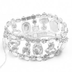 Wedding Bridal Crystal Diamante Rhinestone Stretch Bracelet-NA5196