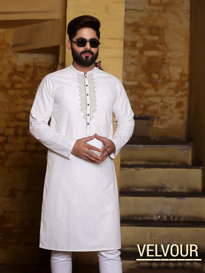 Velvour Stitched Kurta For Men-VL0028