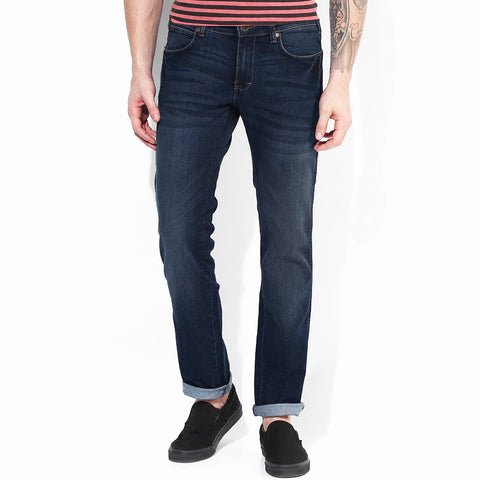 Sir Rich Straight Fit Full Stretch Denim For Men -Dark Blue Faded - CH010