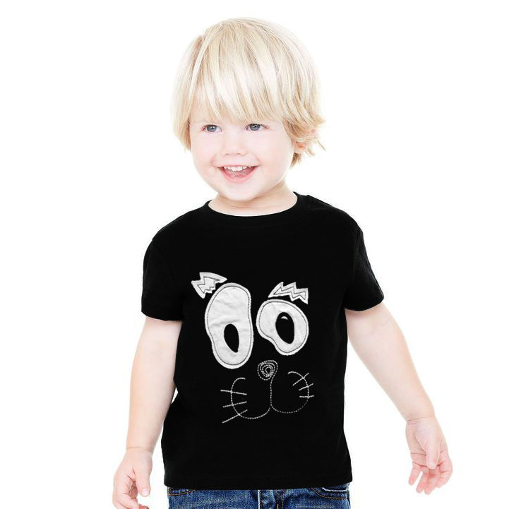 ZBaby Crew Neck Half Sleeve Tee Shirt-Black-NA11034