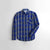 ZB Premium Slim Fit Casual Shirt For Boys-Blue Chek-NA11953