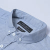 Zara Man Premium Slim Fit Casual Shirt For Men-Blue Lining Melange-NA10956