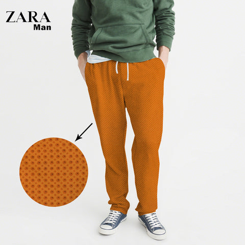 Zara Man Cotton Trouser For Men-All Over Chek Printed-NA1114