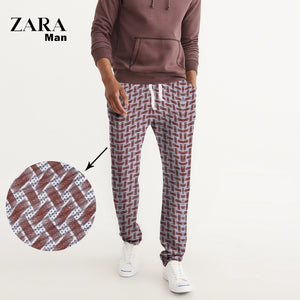 Zara Man Cotton Trouser For Men-All Over Chek Printed-NA1115