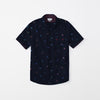 Zara Man Premium Slim Fit Casual Shirt For Boys-Dark Navy-NA9631