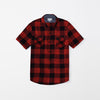 Zara Man Premium Slim Fit Casual Shirt For Boys-Red & Black Chek-NA9634