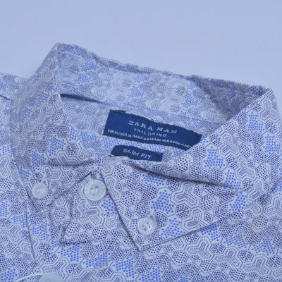 brandsego - Zara Man Premium Slim Fit Casual Shirt For Men-All Over Printed-NA9056