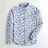 Zara Man Premium Slim Fit Printed Irish Cotton Casual Shirt For Men-NA7073