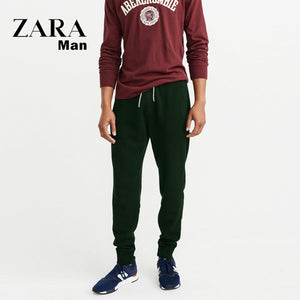 Zara Man Single Jersey Trouser For Men-Dark Green-NA5954